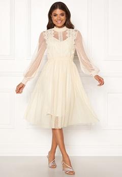 VILA Ama L/S Dress Cloud Dancer Bubbleroom.no