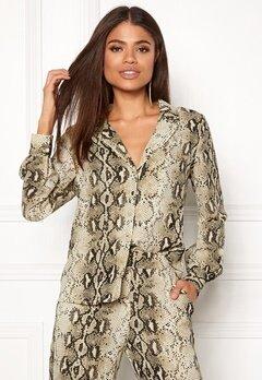 VILA Amella L/S Shirt Sandshell Bubbleroom.no