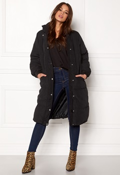 VILA Anabella Long Jacket Black Bubbleroom.no