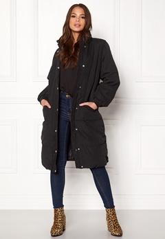 VILA Anabella Long Jacket Black Bubbleroom.no