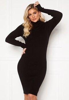 VILA Andena Knit Dress Black Bubbleroom.no