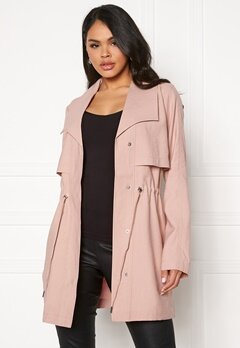 VILA Anina Parka Coat Pale Mauve Bubbleroom.no