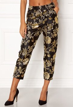 VILA Anna Pant Black Bubbleroom.no
