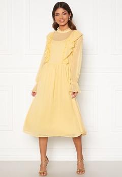VILA Ashlynn Highneck L/S Dress Sunlight Bubbleroom.no