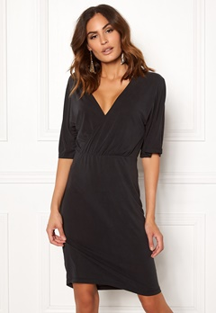 VILA Atetsy 2/4 Sleeve Dress Black Bubbleroom.no