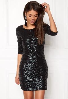 VILA Beady 3/4 Dress Black Detail Pine Bubbleroom.no