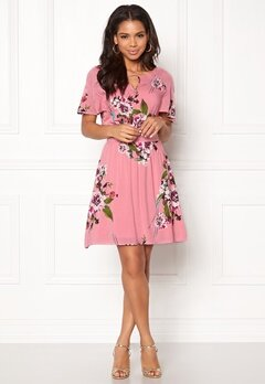 VILA Birdo S/S Dress Bridal Rose Bubbleroom.no