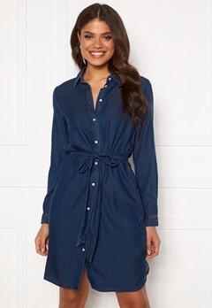 VILA Bista Denim Belt Dress Dark Blue Denim Bubbleroom.no