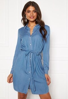 VILA Bista Denim Belt Dress Medium Blue Denim Bubbleroom.no