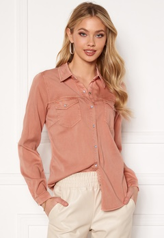 VILA Bista Denim Shirt Misty Rose Bubbleroom.no