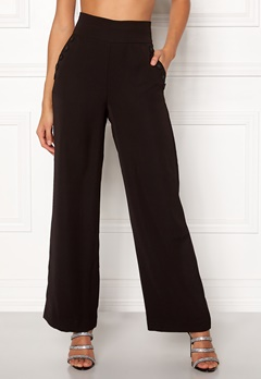 VILA Blami HW Button Pant Black Bubbleroom.no