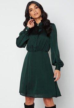 VILA Cajsa L/S Shirt Dress Darkest Spruce bubbleroom.no