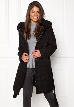 VILA Cama New Wool Coat Black Bubbleroom.no