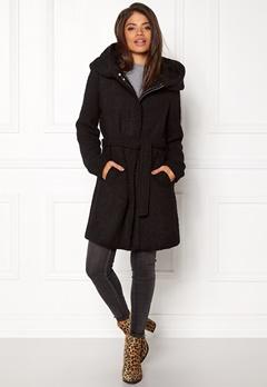 VILA Cama New Wool Coat Black Bubbleroom.no
