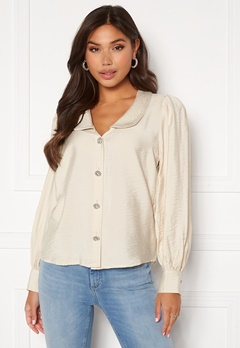 VILA Cameli L/S Shirt Birch Bubbleroom.no