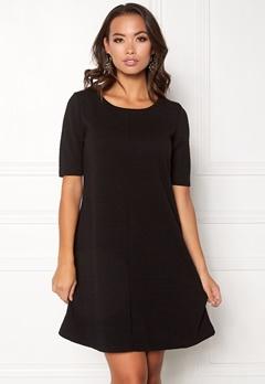 VILA Caro A-Shape Jersey Dress Black Bubbleroom.no