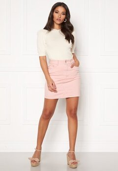 VILA Cassie Short Denim Skirt Pale Mauve Bubbleroom.no