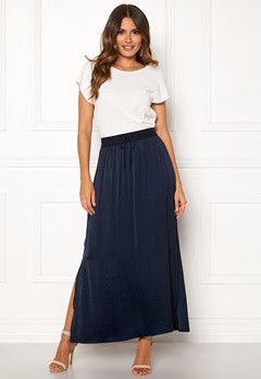 VILA Cava Maxi Skirt Total Eclipse Bubbleroom.no