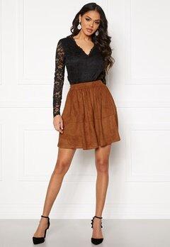 VILA Choose HW Skirt Caramel Café Bubbleroom.no