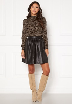 VILA Choosy HW Skirt Black Bubbleroom.no