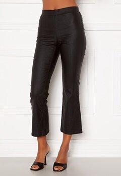 VILA Commit Coated HWSL Cropped Pants Black Bubbleroom.no