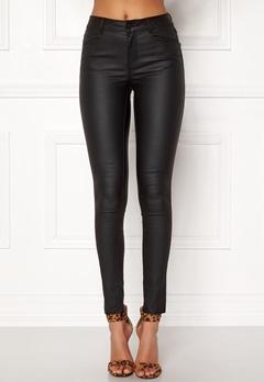 VILA Commit New Coated Jeans Black Bubbleroom.no