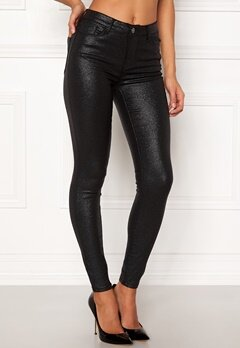 VILA Commit RW Glitter Jeans Black Bubbleroom.no