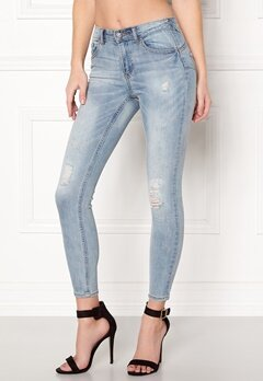 VILA Commit RW Pushup Jeans Medium Blue Denim Bubbleroom.no