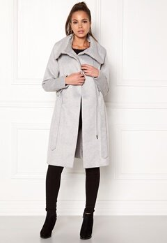 VILA Dahlia Wool Coat Light Grey Melange Bubbleroom.no