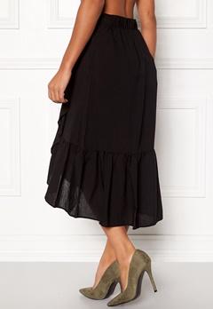 VILA Dama Flounce Midi Skirt Black Bubbleroom.no