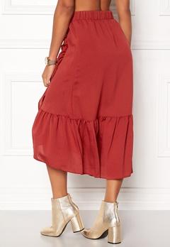 VILA Dama Flounce Midi Skirt Rooibos Tea Bubbleroom.no