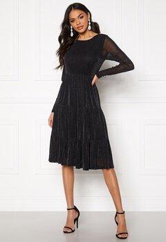 VILA Davis L/S Glitter Dress Black Bubbleroom.no