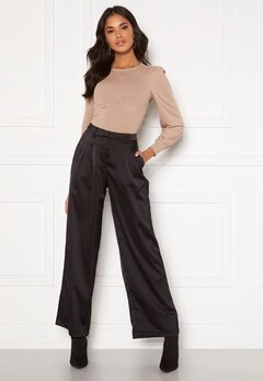 VILA Daye HWRX Wide Pants Black Bubbleroom.no