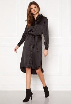 VILA Daye L/S Shirt Dress Black Bubbleroom.no
