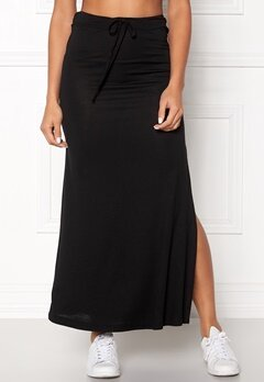 VILA Deana Maxi Skirt Black Bubbleroom.no