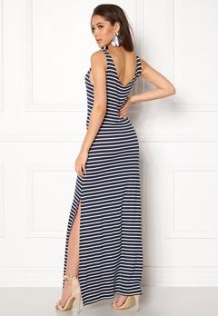 VILA Deana S/L Maxi Dress Total Eclipse/Snow W Bubbleroom.no