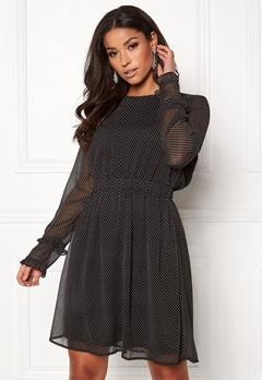 VILA Dotly L/S Dress Black Bubbleroom.no