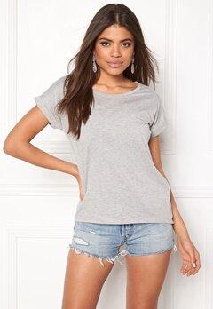 VILA Dreamers Pure T-shirt Light Grey Melange Bubbleroom.no