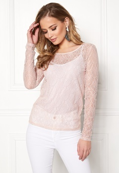 VILA Frej L/S T-shirt Peach Blush Bubbleroom.no