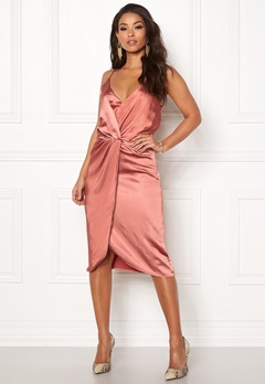 VILA Fsateny Midi Dress Dusty Cedar Bubbleroom.no