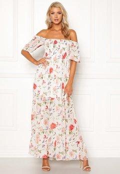VILA Glinda S/S Maxi Dress Pristine AOP Bubbleroom.no