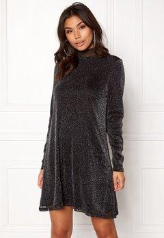 VILA Glori Vang L/S Dress Black Bubbleroom.no