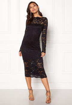 VILA Grit L/S Dress Black Bubbleroom.no