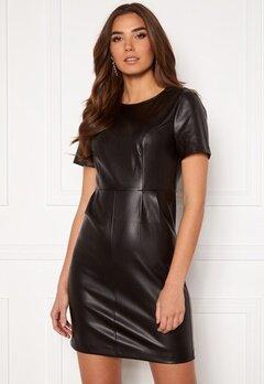 VILA Jaffi Coated S/S Dress Black Bubbleroom.no