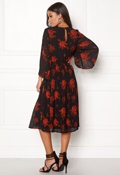 VILA Jelana 3/4 Sleeve Dress Black Bubbleroom.no
