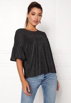 VILA Jomine S/S T-Shirt Black Bubbleroom.no
