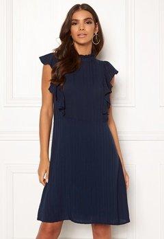 VILA Juliana S/L Dress Navy Blazer Bubbleroom.no