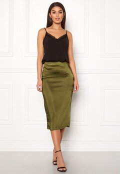 VILA Julie Skirt Dark Olive Bubbleroom.no