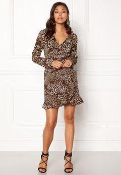 VILA Kacy L/S Wrap Dress Black Bubbleroom.no