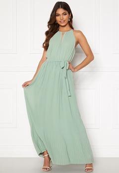VILA Katelyn Halterneck Dress Jadeite Bubbleroom.no